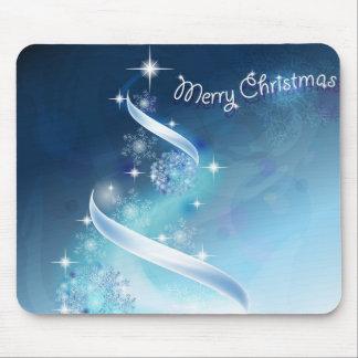 Árbol de navidad abstracto y mágico de los copos d alfombrillas de ratón