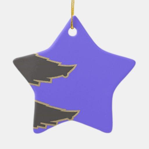 Árbol de navidad adorno navideño de cerámica en forma de estrella