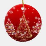 Árbol de navidad adorno navideño redondo de cerámica