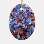 Árbol de navidad adorno ovalado de cerámica