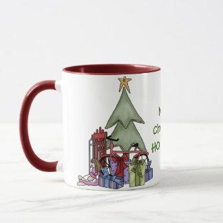Árbol de navidad alegre del St Nick de Papá Noel Taza