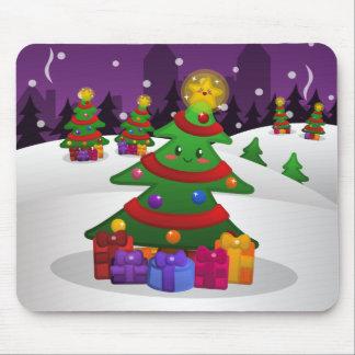 Árbol de navidad alegre Mousepad