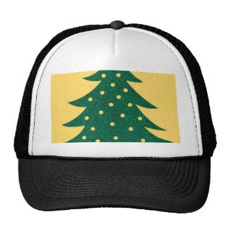 Árbol de navidad, amarillo gorro