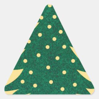 Árbol de navidad, amarillo calcomania triangulo personalizadas