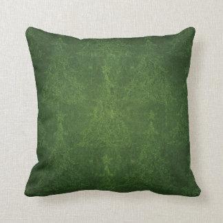 Árbol de navidad apenado verde cojín