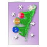 Árbol de navidad artístico tarjeta