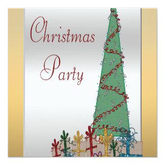 Árbol de navidad atractivo y brillo de los invitaciones personales
