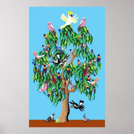 Árbol de navidad australiano poster