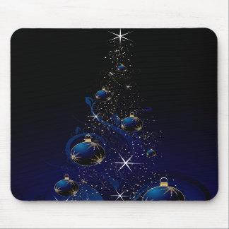 Árbol de navidad azul brillante alfombrillas de ratón