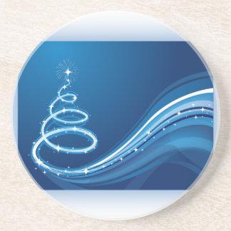 Árbol de navidad azul del remolino posavasos manualidades