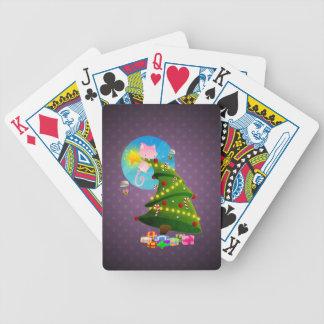 Árbol de navidad barajas de cartas