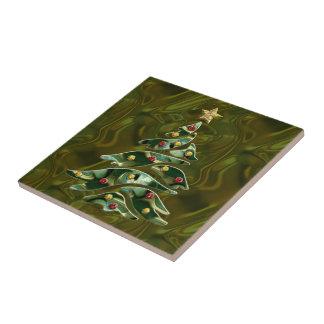 Árbol de navidad Bejeweled Azulejo Cerámica