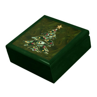 Árbol de navidad Bejeweled Cajas De Recuerdo