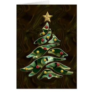 Árbol de navidad Bejeweled Tarjeta De Felicitación