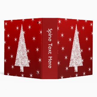 """Árbol de navidad blanco con las estrellas en rojo carpeta 2"""""""