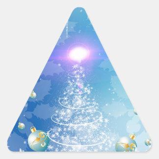 Árbol de navidad blanco con un efecto luminoso, calcomania de trianguladas