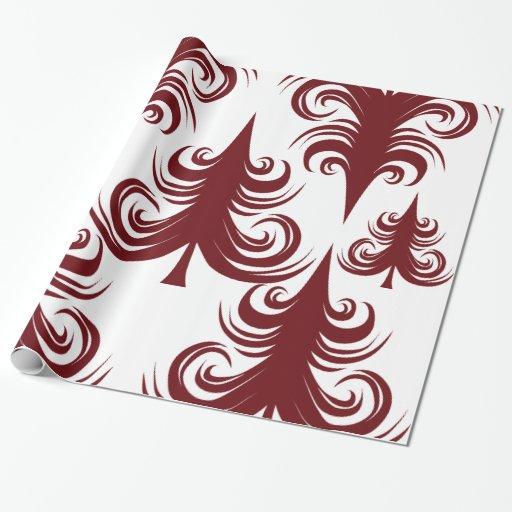 Árbol de navidad blanco rojo del día de fiesta