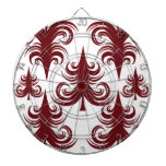 Árbol de navidad blanco rojo del día de fiesta fes tablero dardos