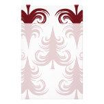 Árbol de navidad blanco rojo del día de fiesta fes papelería de diseño