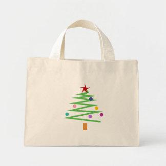 Árbol de navidad bolsa tela pequeña