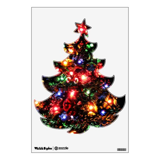 Árbol de navidad brillante vinilo decorativo