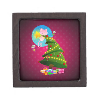 Árbol de navidad cajas de recuerdo de calidad