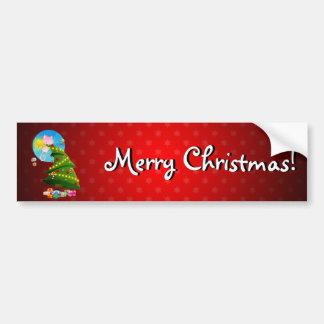 Árbol de navidad etiqueta de parachoque