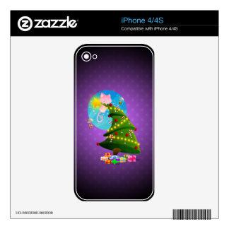 Árbol de navidad calcomanías para el iPhone 4S