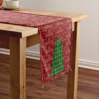 Árbol de navidad camino de mesa corto