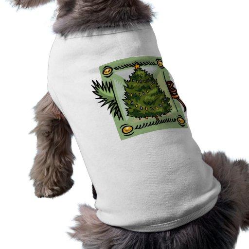 Árbol de navidad camisas de perritos