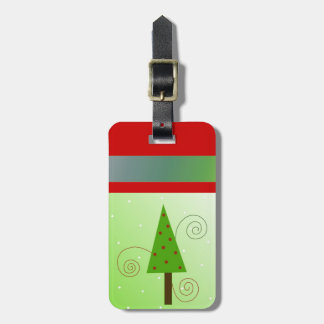 Árbol de navidad caprichoso etiquetas bolsa