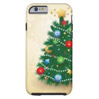 Árbol de navidad, caso del iPhone 6 Funda De iPhone 6 Tough