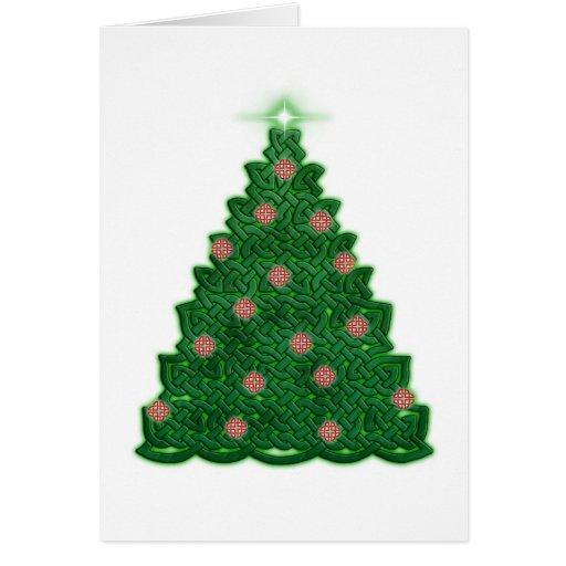 Árbol de navidad céltico felicitaciones