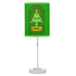 Árbol de navidad céltico - lámpara verde