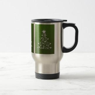 Árbol de navidad chispeante en verde tazas