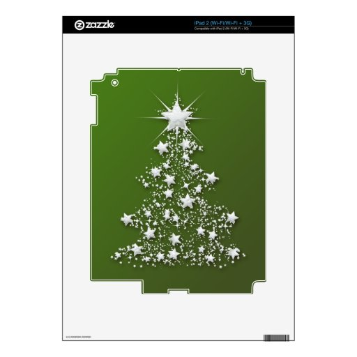 Árbol de navidad chispeante estrellado skins para eliPad 2