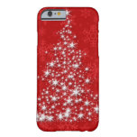 Árbol de navidad chispeante funda de iPhone 6 slim