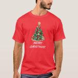 Árbol de navidad colorido: Arte del vector: Playera