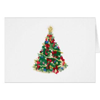 Árbol de navidad colorido: Arte del vector: Tarjeta De Felicitación