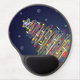 Árbol de navidad colorido festivo (personalizar él alfombrilla con gel
