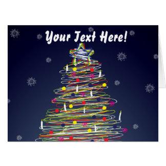 Árbol de navidad colorido festivo personalizar él tarjeta