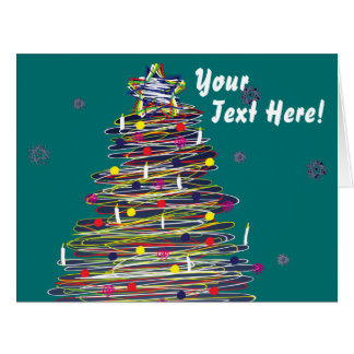 Árbol de navidad colorido festivo personalizar él tarjetas