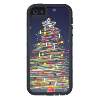 Árbol de navidad colorido festivo (personalizar iPhone 5 carcasas