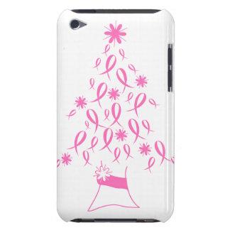 Árbol de navidad con el cáncer de pecho de las cin iPod touch Case-Mate carcasa