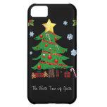 Árbol de navidad con el caso del iPhone 5 del día