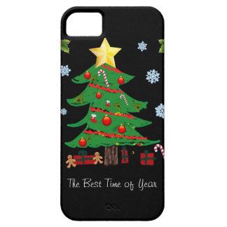 Árbol de navidad con el caso del iPhone 5 del día iPhone 5 Carcasa