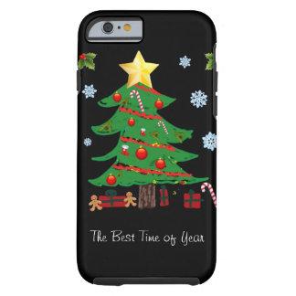 Árbol de navidad con el caso del iPhone 6 del día