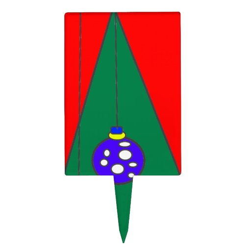 Árbol de navidad con el fondo rojo figuras para tartas