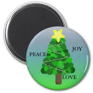 Árbol de navidad con el mensaje imán