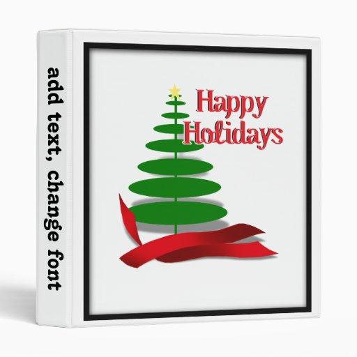 """Árbol de navidad con la cinta roja carpeta 1"""""""